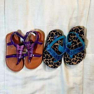 Girls sandals toddler sz 8